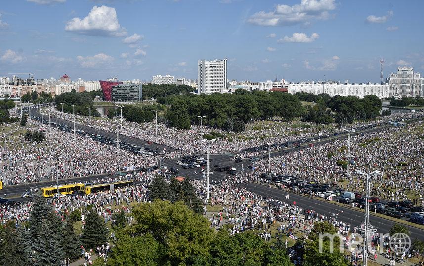 Оппозиционный митинг в Белоруссии. Фото AFP
