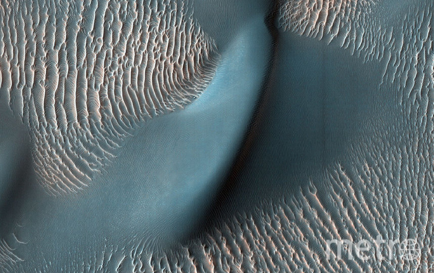 Марс, вид сверху. Фото предоставлены NASA.
