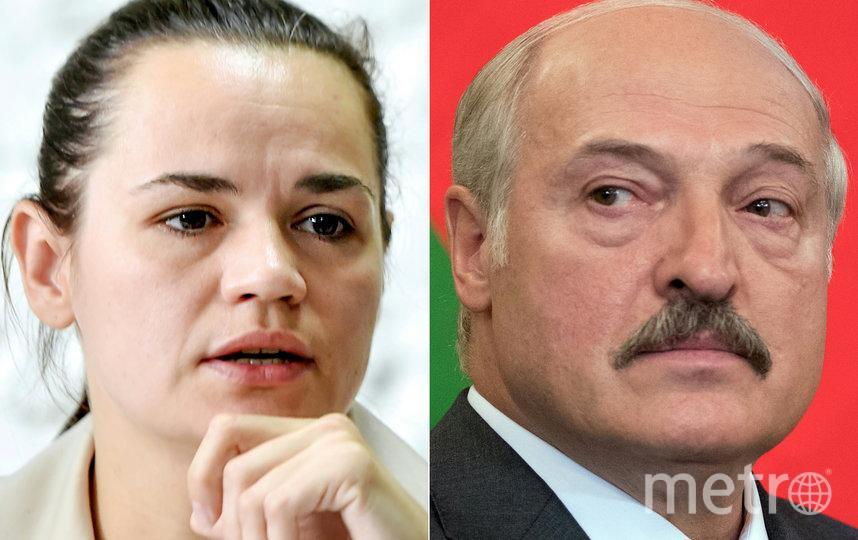 Светлана Тихановская и Александр Лукашенко. Фото AFP