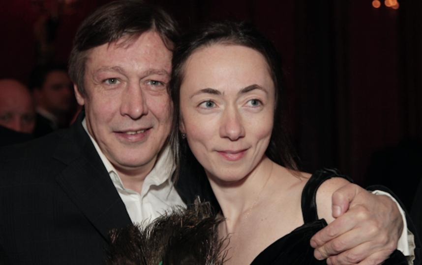 Актер Михаил Ефремов с супругой Софьей Кругликовой. Фото Екатерина Чеснокова, РИА Новости