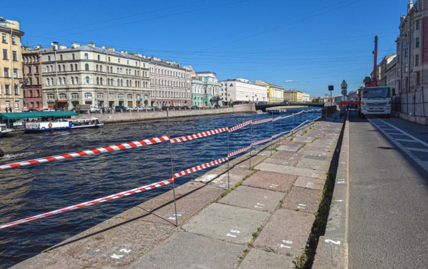 """На набережной Фонтанки начались ремонтные работы. Фото gov.spb.ru, """"Metro"""""""