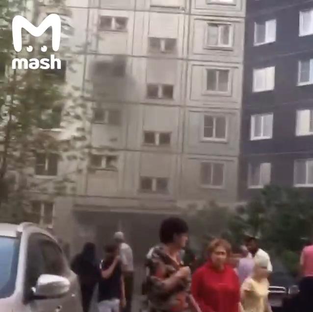 Из дома были эвакуированы порядка 160 человек. Фото telegram-канал Mash