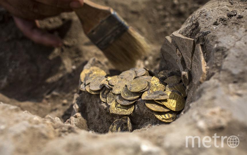 Общий вес монет составил 845 г. Фото AFP