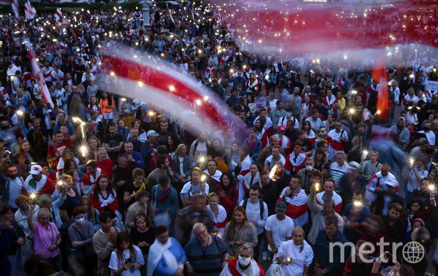 По всей Белоруссии проходят многотысячные протестные акции, их участники требуют отставки Лукашенко, проведения новых выборов и освобождения всех задержанных. Фото AFP