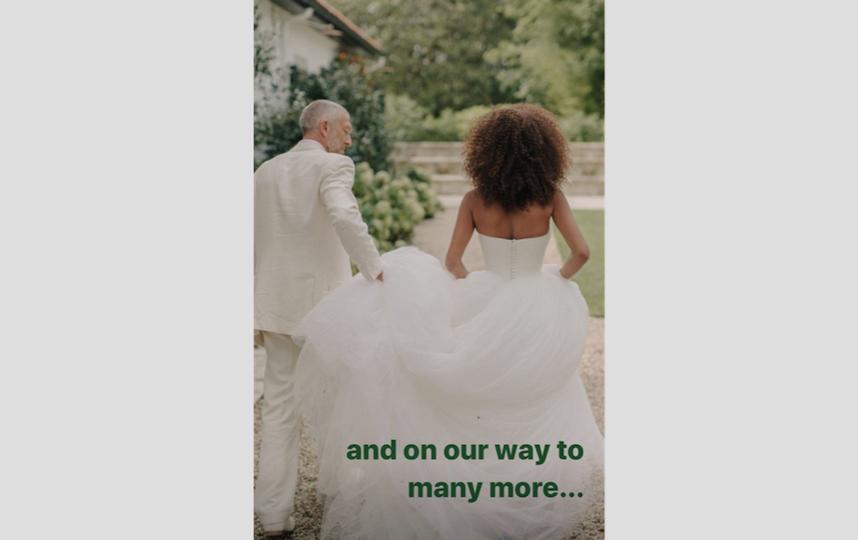 Два года назад Венсан Кассель и Тина Кунаки поженились. Фото скриншот: https://www.instagram.com/stories/tinakunakey