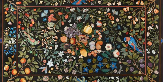 Столешница второй половины XVII века с мозаиками pietre dure.