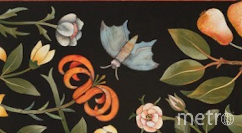 Столешница второй половины XVII века с мозаиками pietre dure. Фото фото предоставлено ГМИИ им. А. С. Пушкина