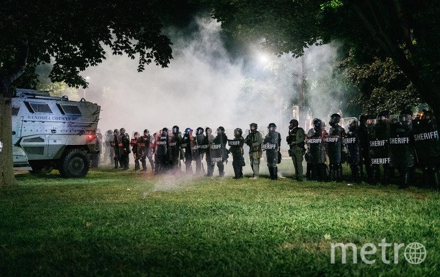 В Кеноше третий день продолжаются протесты. Фото AFP