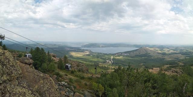 Башкирия. Вид с горы Яманкай.