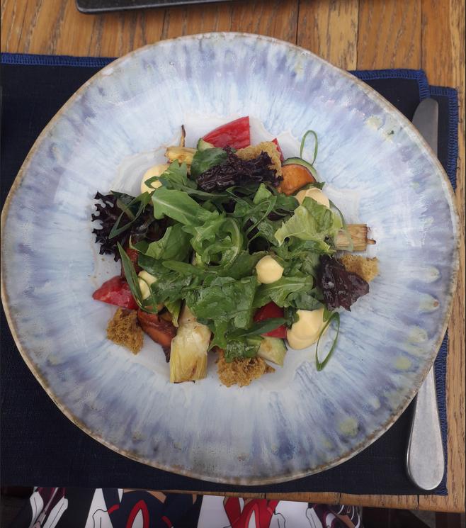 """Салат с лисичками и маринованными артишоками. Фото Мария Позина, """"Metro"""""""