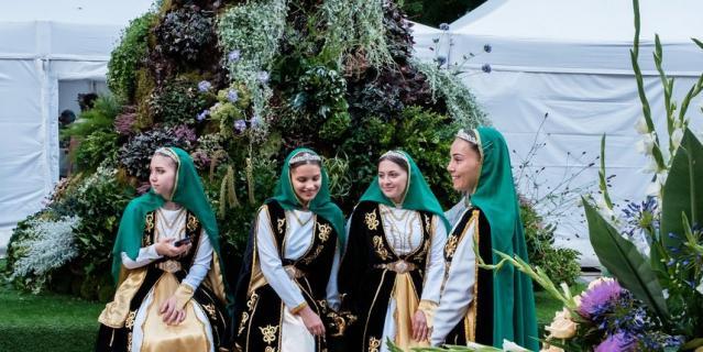 Фестиваль цветов в Петербурге.