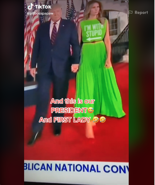 Варианты платьев Мелании Трамп.