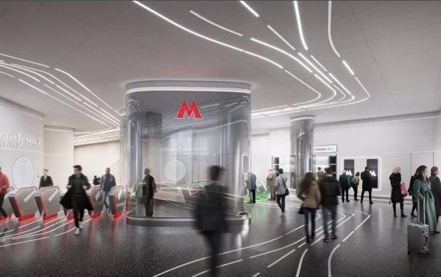Дизайн новой станций Большой кольцевой линии метро. Фото mos.ru