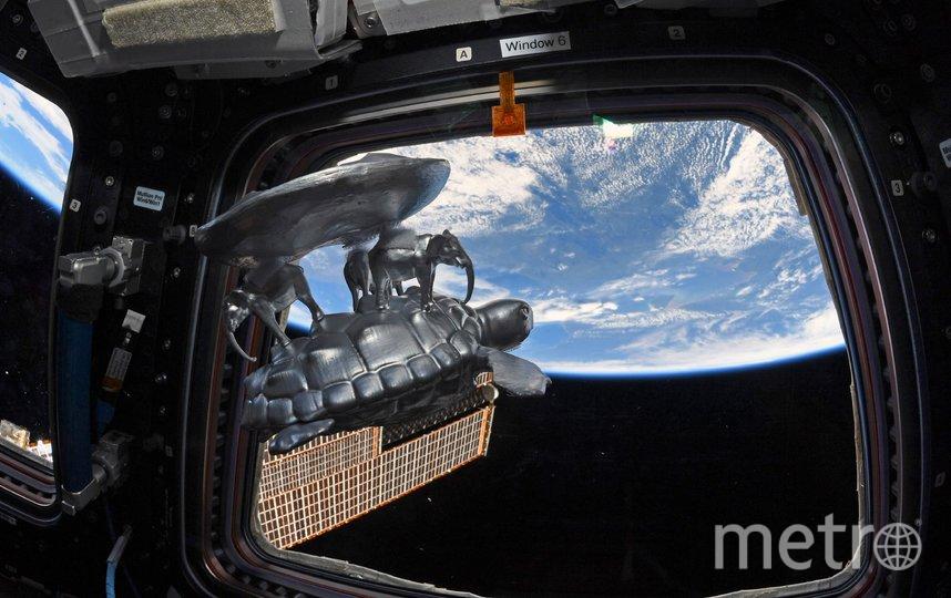 """Космонавт опубликовал поздравление из космоса. Фото Скриншот Twitter: @ivan_mks63, """"Metro"""""""