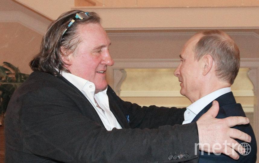 Депардье и Путин. Фото РИА Новости