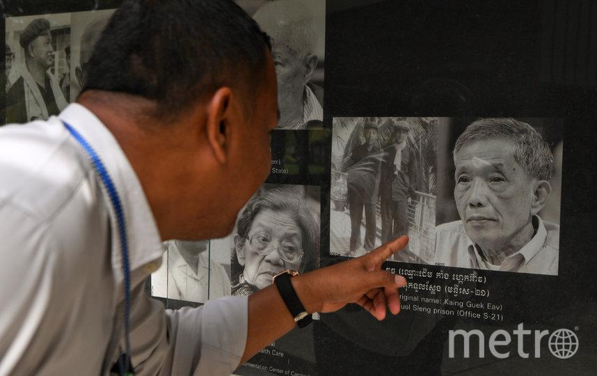 Портрет Канга Кек Иеу в музее геноцида Туол Сленг. Фото AFP