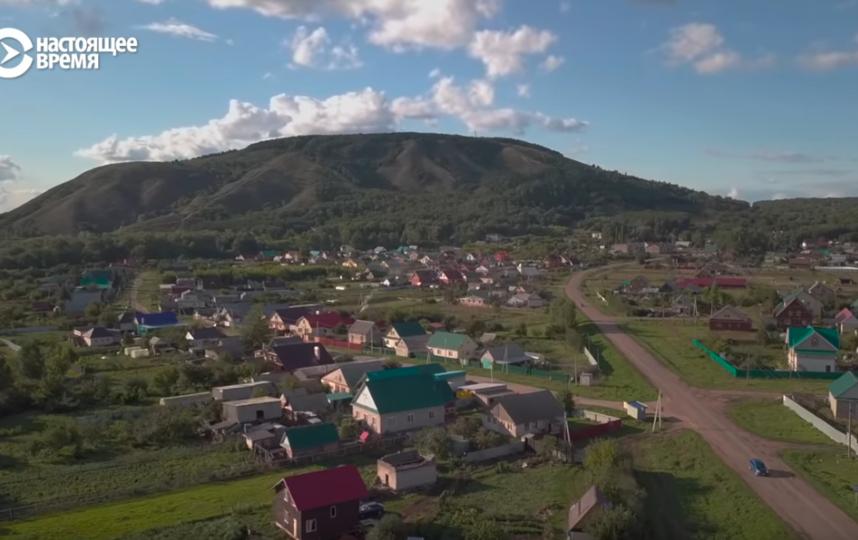 Гора Куштау в Башкирии. Фото  Настоящее Время. Док, Скриншот Youtube