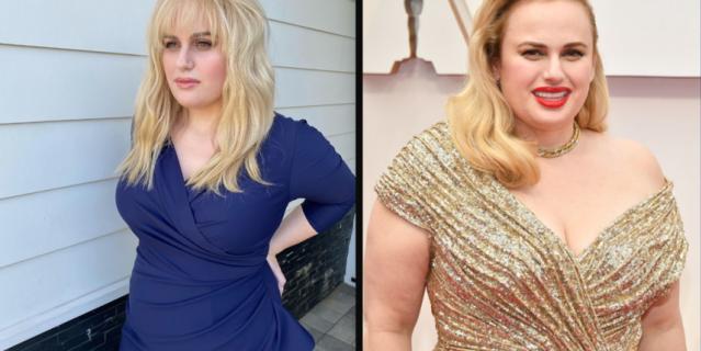 Ребел Уилсон до и после похудения.