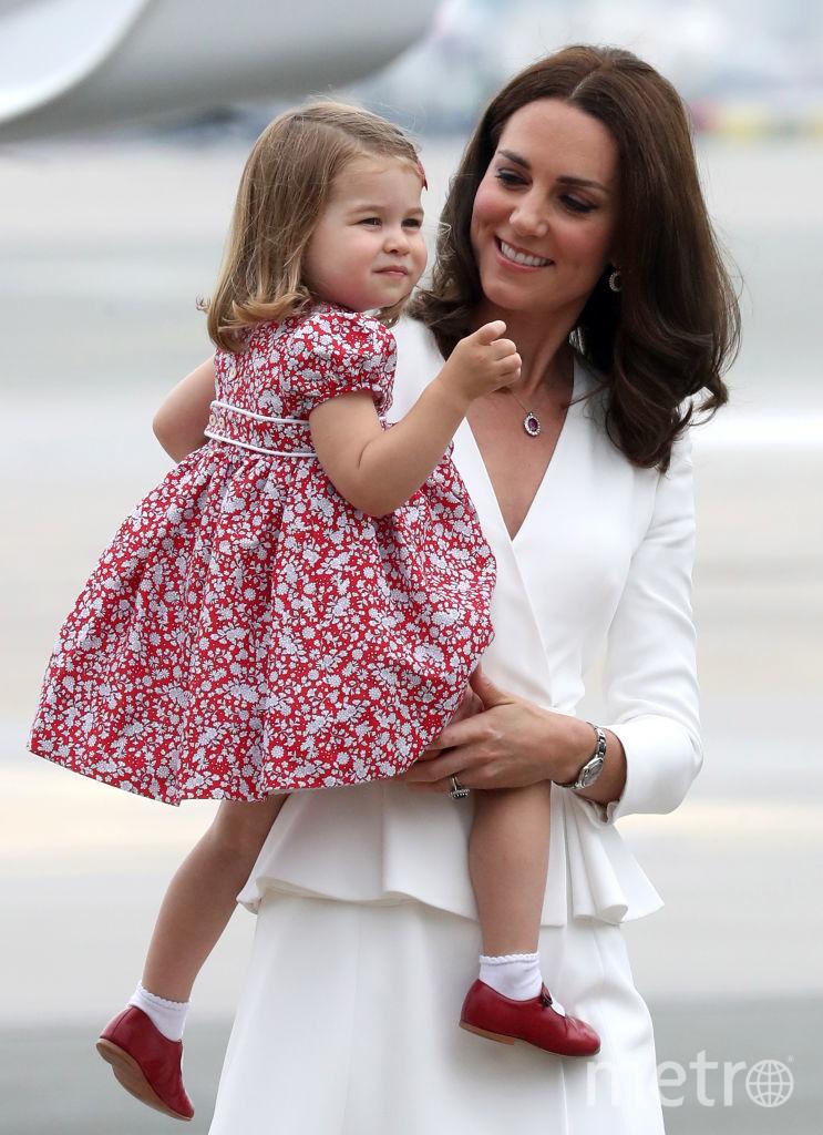 Кейт Миддлтон и принцесса Шарлотта. Фото Getty