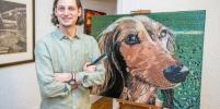 Американский художник создал портрет собаки из скобок
