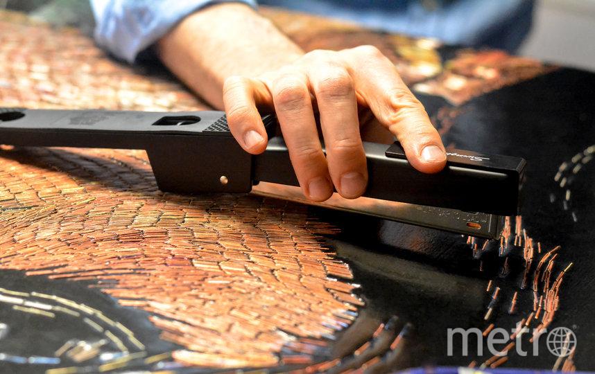 """75 738 скоб было использовано для создания мозаичного панно """"Докси"""". Фото предоставлено героем публикации, """"Metro"""""""