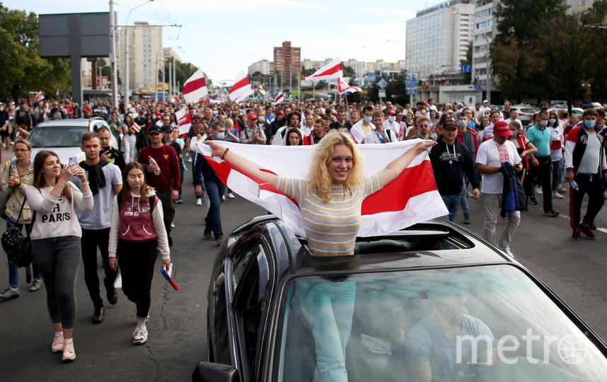 Протесты в Белоруссии. Фото AFP