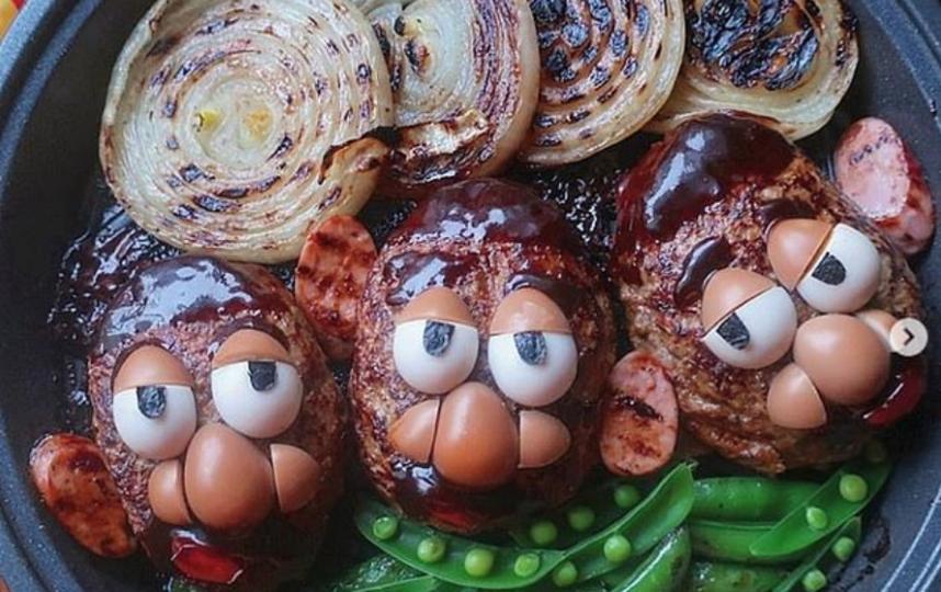 Вот такие блюда придумывает японская мама. Фото https://www.instagram.com/Etn.co_mam/