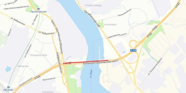 Перекроют две полосы движения на вантовом мосту.