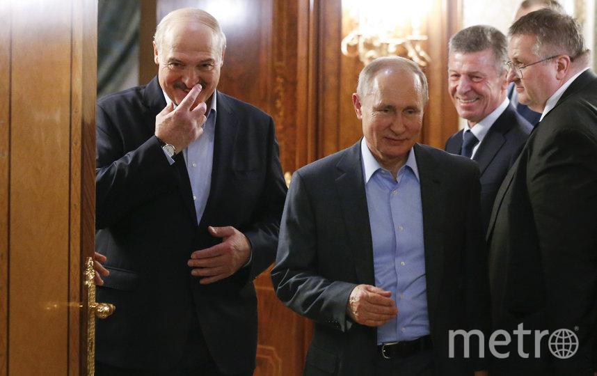 Александр Лукашенко и Владимир Путин, из архива. Фото AFP