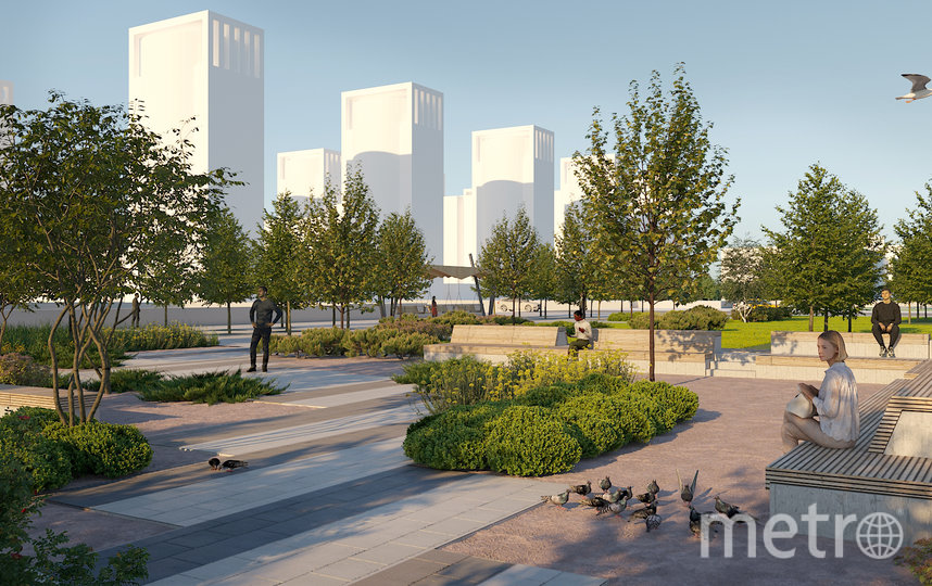 """Сквер будет разделять автомобильная дорога – и это тоже не нравится василеостровцам. Фото gov.spb.ru, """"Metro"""""""