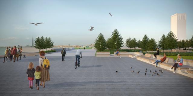 Сквер будет разделять автомобильная дорога – и это тоже не нравится василеостровцам.