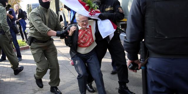 73-летняя активистка Нина Багинская.