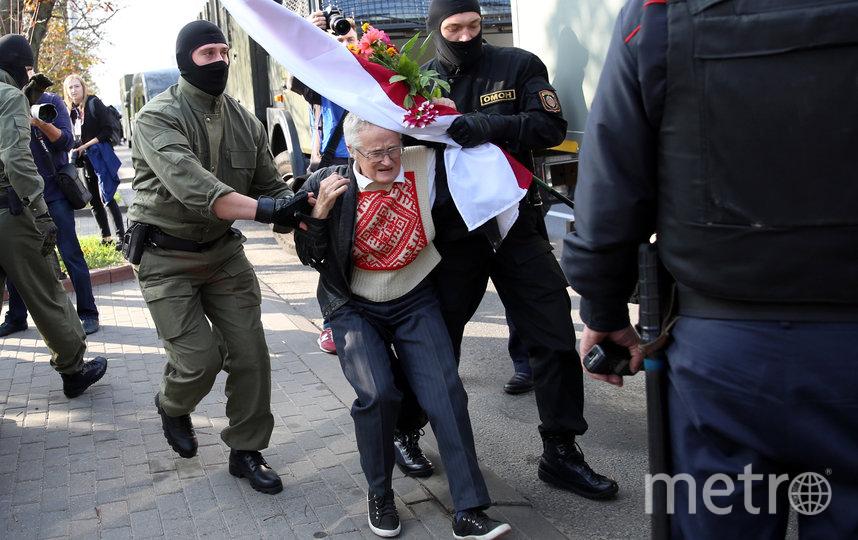 73-летняя активистка Нина Багинская. Фото AFP