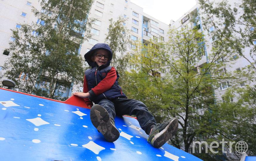 Москва весело проводит время во дворе своего дома на улице Борисовские Пруды. Фото Василий Кузьмичёнок