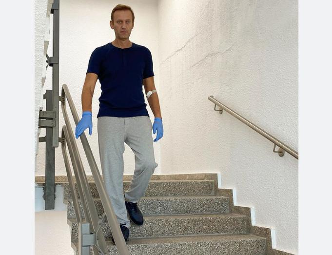 Алексей Навальный в клинике Charite. Фото скриншот Instagram @navalny.