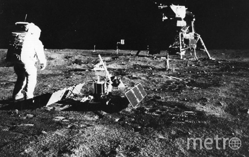 На Луне астронавты проведут почти 7 дней. Архив. 1969. Фото AFP