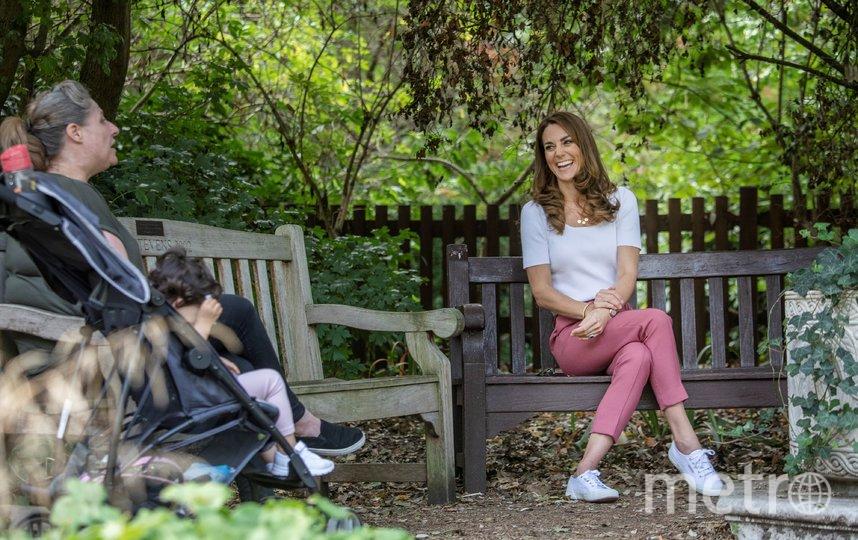 Кейт Миддлтон в Баттерси-парке. Фото AFP