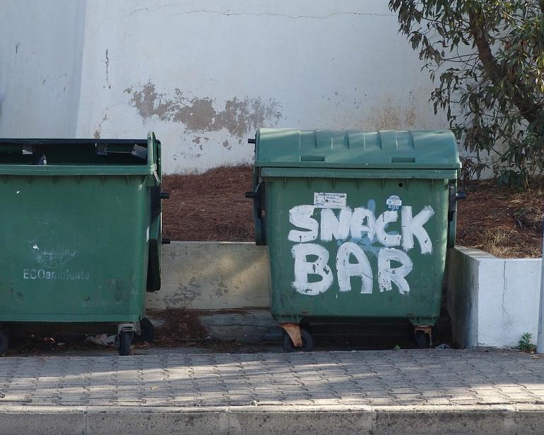 В Петербурге могут начать штрафовать за припаркованные у мусорных контейнеров машины. Фото Pixabay.