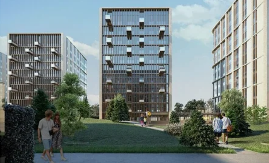 Жилой комплекс в новом проекте. Фото комплекс градостроительной политики и строительства