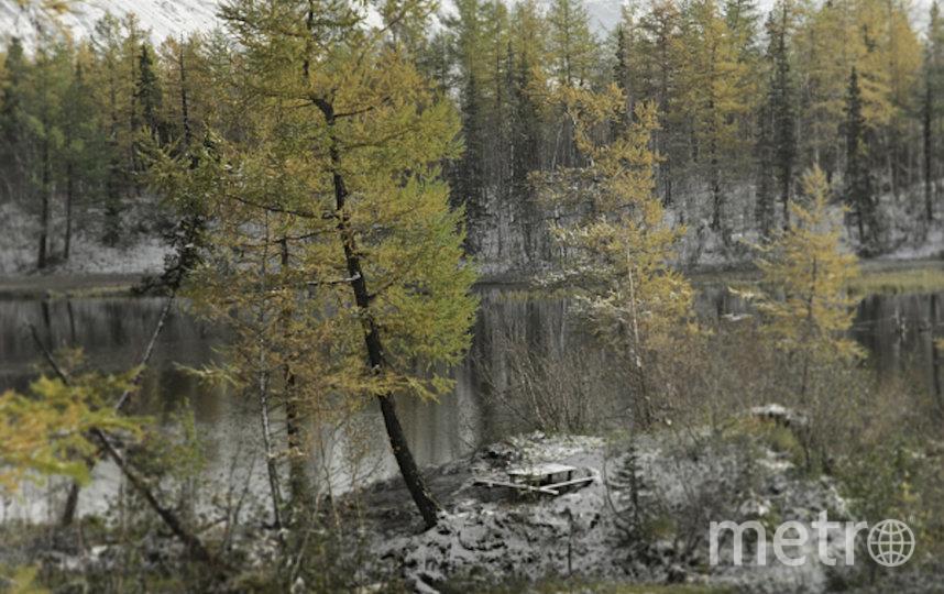 Осенний пейзаж в Норильске.