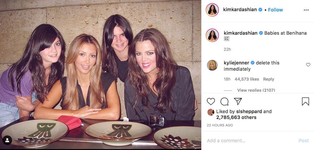 Ким Кардашьян предалась ностальгии. Фото Instagram @kimkardashian