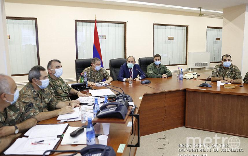 Пресс-конференция в Армении. Фото AFP