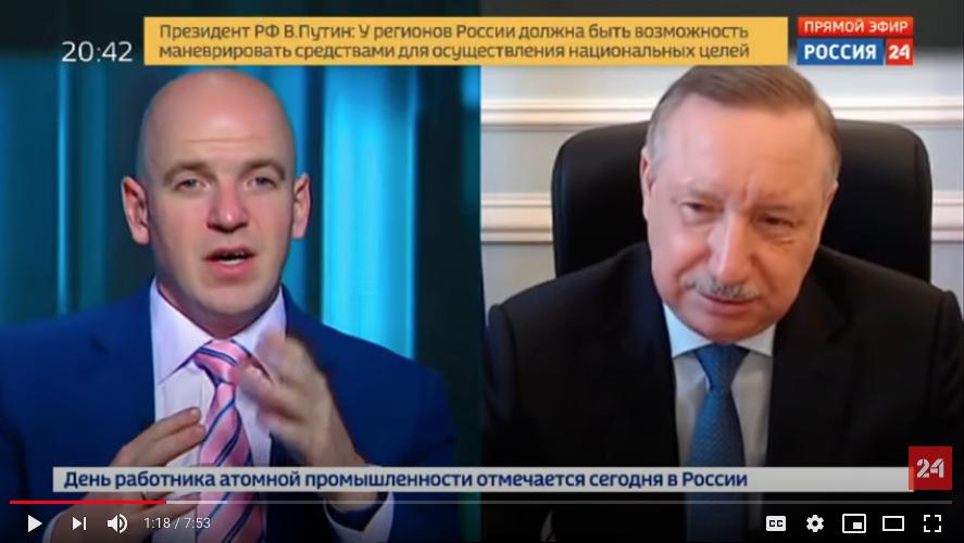 Беглов в прямом эфире ответил на вопросы о ситуации в Петербурге с заболеваемостью коронавирусом. Фото Скриншот Youtube