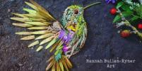 Фотограф создает тропических птиц из натуральных материалов