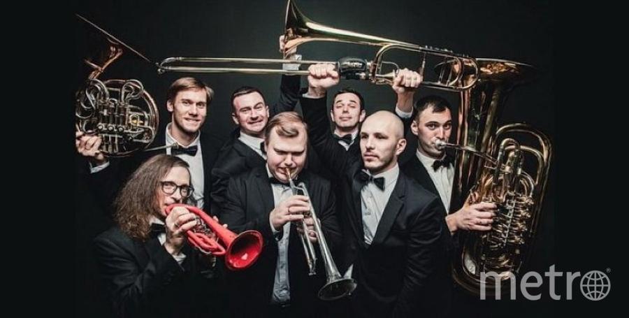 """Участник фестиваля """"Кофе&Jazz"""" - ансамбль Olympic Brass. Фото vk.com/cofee_jazz, vk.com"""