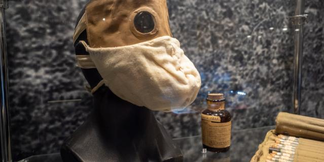 Это первая в России экспозиция, посвящённая борьбе с коронавирусной инфекцией.
