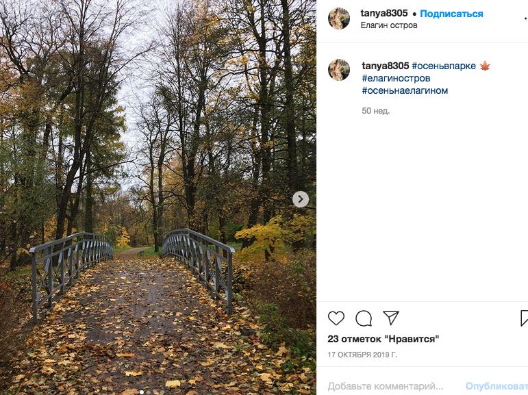 Осень - самое лушее время для фотосессии. Фото instagram.com/tanya8305.