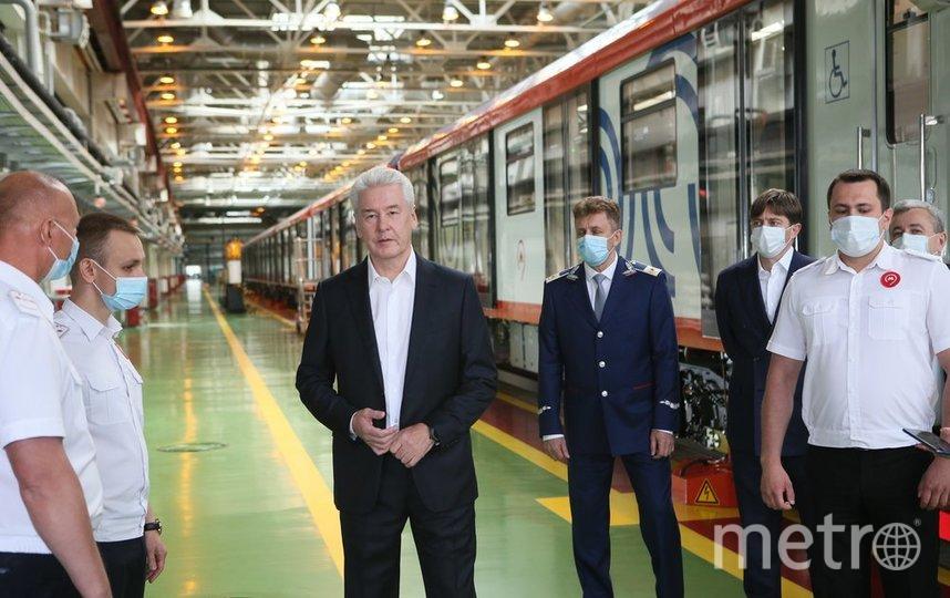 По словам мэра столицы, уже в следующем году на Кольцевой линии столичной подземки на 100% обновят подвижной состав. Фото Пресс-служба мэра и правительства Москвы