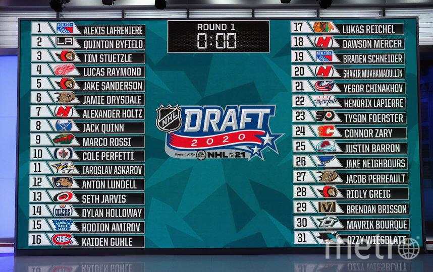 В ночь на среду прошла первая часть драфта НХЛ. Фото AFP