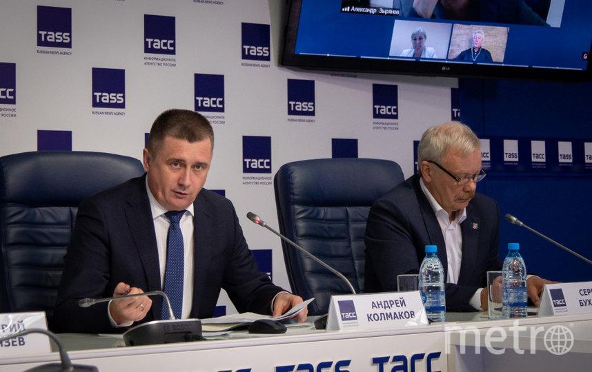 Андрей Колмаков в ходе презентации доклада СГК.